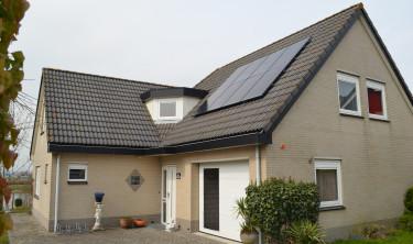 Woning voorzien van PV installatie